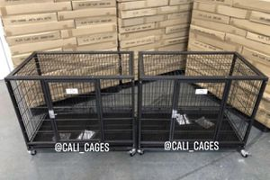 Dog pet cage kennel size 37 medium set of 2 new in box 📦 for Sale in Chino, CA