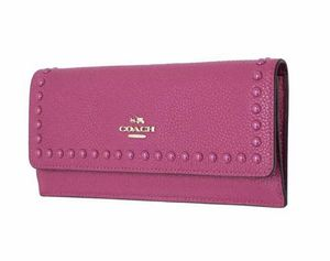 New Coach 53449 Lacquer Rivet Pebble Leather Cerise Pink Wallet for Sale in Las Vegas, NV