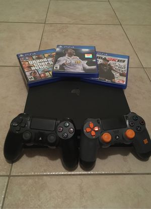 PlayStation 4 slim 1tb, 2 controllers, 3 games for Sale in Chandler, AZ