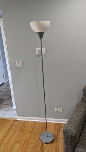 Silver floor lamp for Sale in Prospect Heights, IL