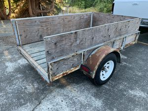 5x8 Utility Trailer w/removable tailgate - New Tires! for Sale in Puyallup, WA