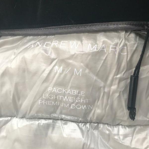 M* Andrew Marc packable lightweight premium down jacket