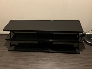 Black Metal/Glass Entertainment (TV) Stand FOR SALE!!! for Sale in Portland, OR