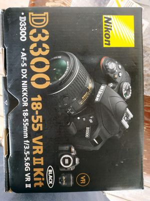 Nikon D3300 24MP Digital SLR Camera + 18-55mm + 70-300mm Lens + Deluxe Bundle for Sale in Charlotte, NC