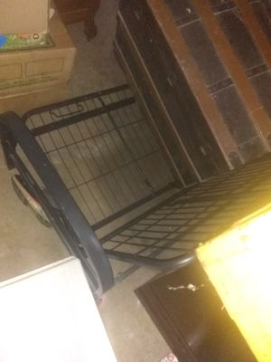 Full size bed and futon frame for Sale in Capron, IL