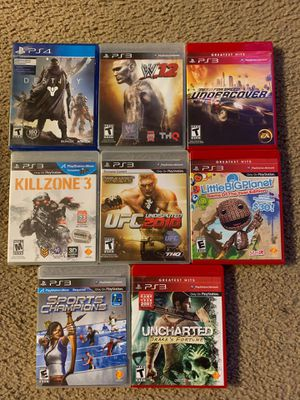 PS3 GAMES ALL FOR $80 for Sale in Garland, TX