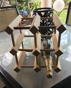 Wood wine rack for Sale in Hialeah, FL