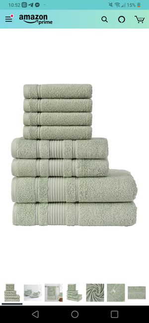 Towel Set; (Green, Towel Set - Set of 8) for Sale in Seattle, WA