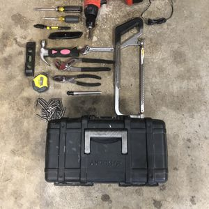 Tool Box With Tools and a Drill for Sale in Renton, WA