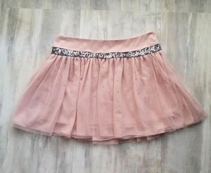 Princess Vera Wang Juniors Size 3 Tulle Mini Skirt Pink Silver Sequin Flounce for Sale in Avondale, AZ