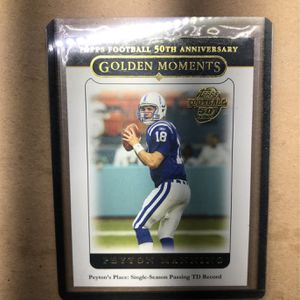 PEYTON MANNING (Topps Football 50TH Anniversary ) Golden Moments - Indianapolis Colts for Sale in Whittier, CA