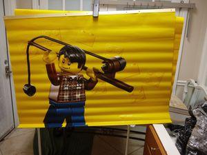 Lego fishing blocks - vinyl - wall hanging - sports - reel - fish - boat - car - play for Sale in Naples, FL
