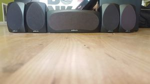 Polk audio speakers. Center and 4 smaller for Sale in San Diego, CA