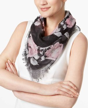 Inc International Concepts Rose-Print Triangle Scarf (Black, One Size) for Sale in Norfolk, VA