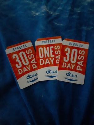 BRAND NEW MONTHLY BUS PASSES for Sale in Santa Ana, CA