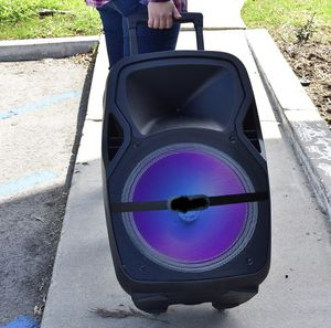 """Bluetooth Rechargeable 🚥speaker SUBWOOFER 12"""" BOCINA great sound loud and clear bocina tailgate BLUETOOTH fm radio REMOTE CONTROL for Sale in Phoenix, AZ"""
