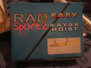 RAD Sportz Kayak Hoist Quality Garage Storage Canoe Lift with 125 lb Capacity Even Works as Ladder Lift Premium Quality for Sale in Woodbridge, VA