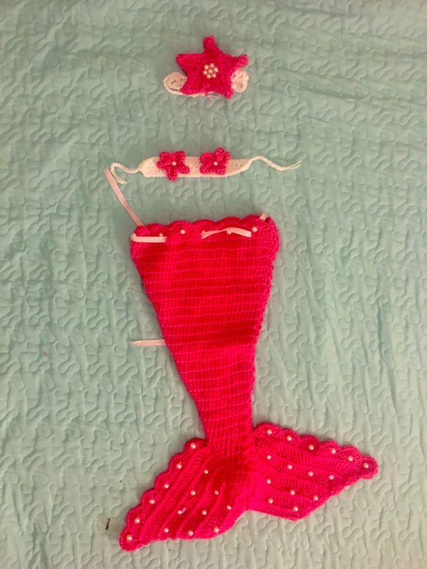 Mermaid outfit 0-6m
