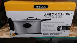 BELLA 3.5L deep fryer for Sale in Riverside, CA