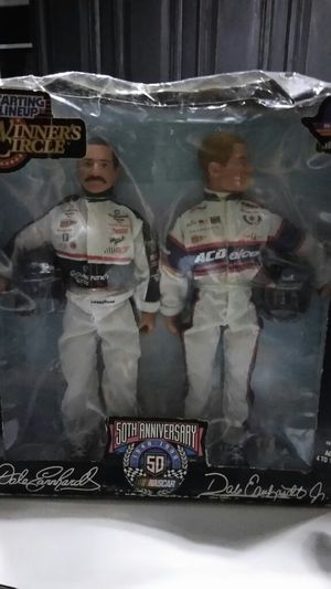 Dale earnhardt and Jr racing nascar collectible vintage action figures for Sale in Dallas, GA