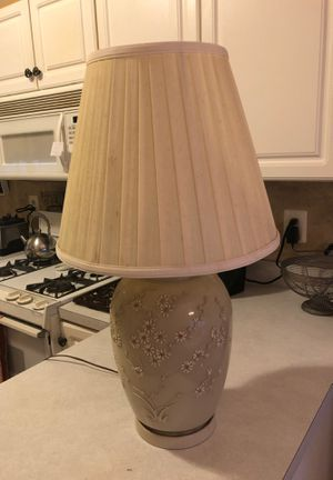 2 Beige lamps with shades for Sale in Hanover, NJ