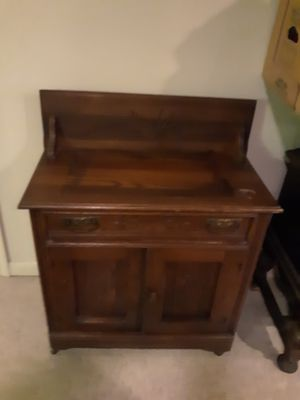 Antique walnut or oak wash stand in good condition for Sale in Lewisburg, PA