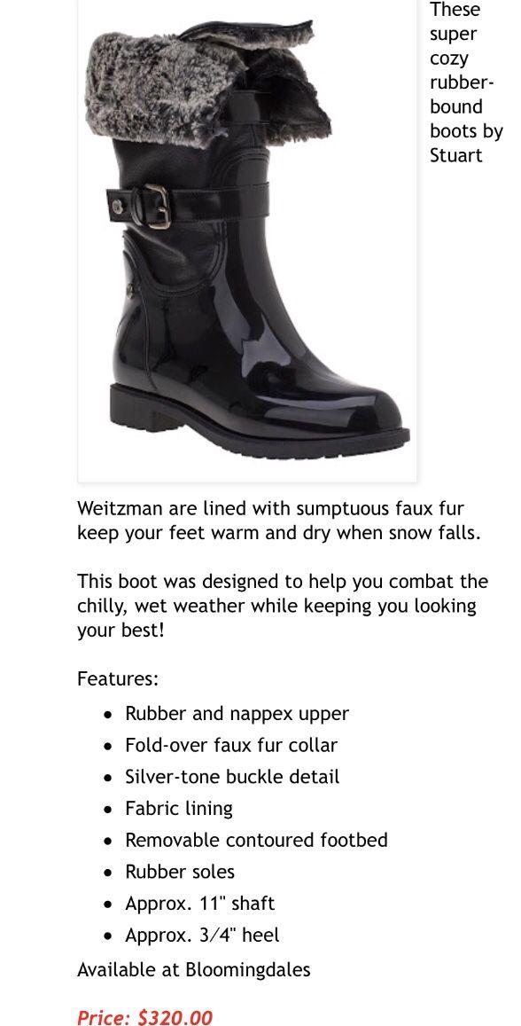 Stuart Weitzman Rain Boots