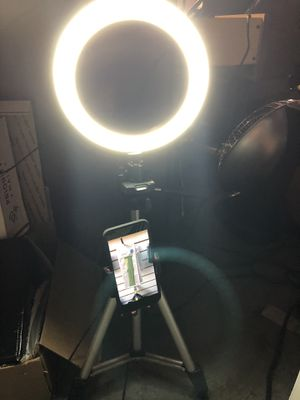 "Brand new 7.9"" ring light with stand and phone holder for Sale in Lawrenceville, GA"