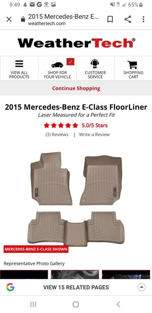 WeatherTech Floor Mats from 2015 Mercedes Benz E350 for Sale in Renton, WA