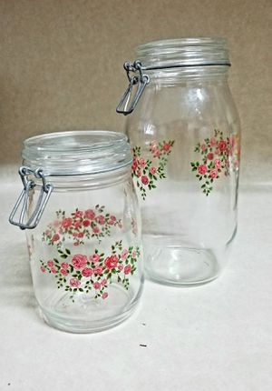 Vintage Glass Kitchen Canisters Set for Sale in Killeen, TX