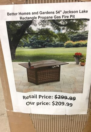 Better homes rectangle propane gas fire pit for Sale in San Lorenzo, CA