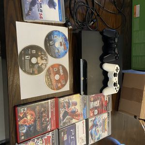 PS3 With 2 Remotes And 10 Games $110 for Sale in Miami, FL