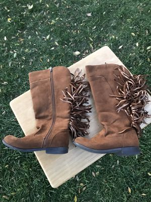 Kids brown boots size 2 for Sale in Visalia, CA