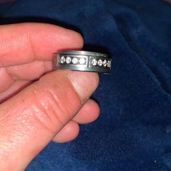 Titanium Men's Wedding Ring 12 Diamonds for Sale in Union City,  CA