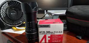 Tamron AF 28- 300 mm lens for Canon, Nikon , Pentax , Sony/Minolta Alpha for Sale in Las Vegas, NV