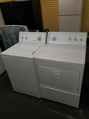 "👍 great Kenmore electric top load washer 24""wide and dryer 27"" in excellen condition for Sale in Baltimore, MD"