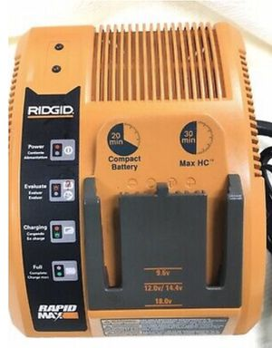RIDGID Rapid Max Battery Charger 9.6- 18V FAST Multi Chemistry Charger for Sale in Leander, TX