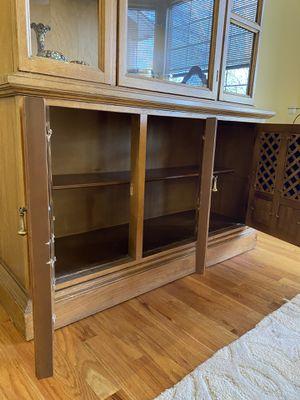 Dark wooden china cabinet for Sale in Denver, CO