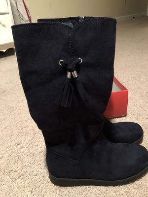 Girls Black Suede-like boots Size 5 Brand new, for Sale in Boca Raton, FL