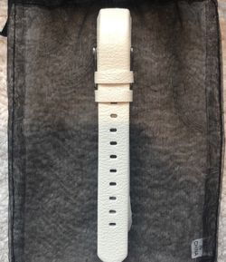 NEW Fitbit Alta Genuine Leather Band - White for Sale in Rockville,  MD