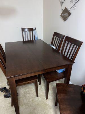 Dark wood dining room table for Sale in Manassas, VA