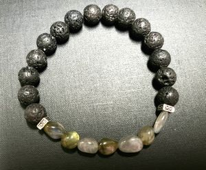 *NATURAL STONE- Labradorite Lava Rock Oil Essential Bracelet (Cleanse your aura, Remove/Block negative energy, calm emotions, Health Benefits) for Sale in Rancho Cucamonga, CA