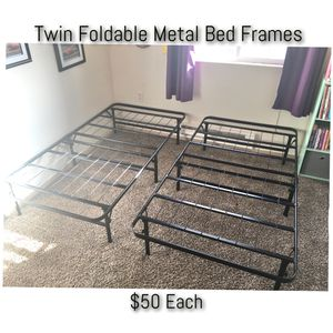 Twin Foldable Metal Bed Frames for Sale in Puyallup, WA