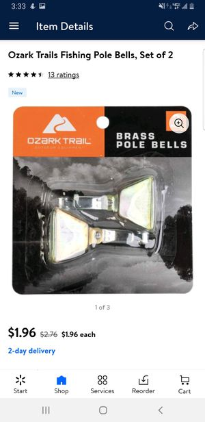 Ozark trail fishing rod bells for Sale in Oklahoma City, OK