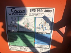Snow plow Curtis 3000 for Sale in North Canton, OH
