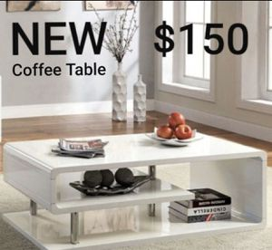 Geometric High Gloss Coffee Table In White for Sale in West Covina, CA