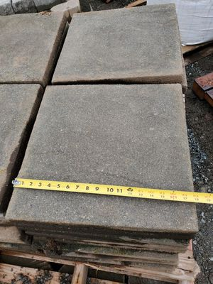 Beautiful hydropressed slab pavers concrete stones charcoal textured for Sale in Mukilteo, WA