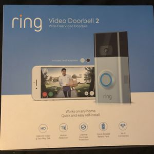 Brand New Sealed Ring Door Bell 2nd Generation 1080p Satin Nickel for Sale in Brooklyn, NY