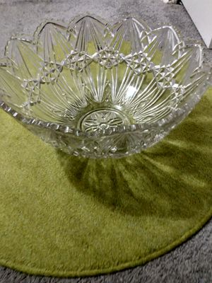 Large heavy glass bowl 9 H 14 W for Sale in Alexandria, VA