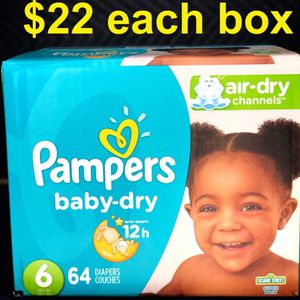 Pampers Baby Dry Size 6 for Sale in Long Beach, CA